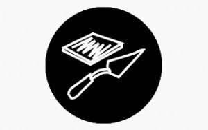 DIY Hydronic Kits icon in black and white.