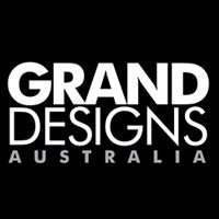 Grand Designs Australia logo in black & white.