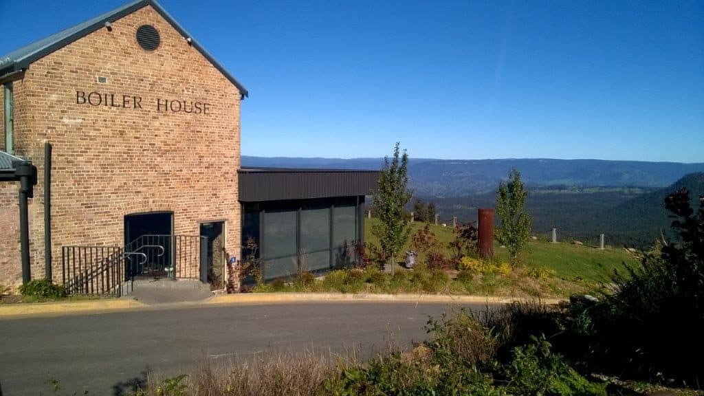Exterior view of Boiler House Restaurant & cafe at Hydro Majestic Blue mountains